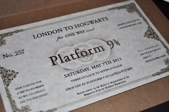 Convite Para Festa Infantil Com O Tema De Harry Potter