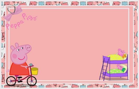 Convite Peppa Pig Para Editar Online