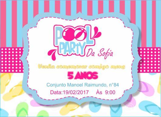 Convite Pool Party – 45 Ideias De Convites Lindos P  Se Inspirar!