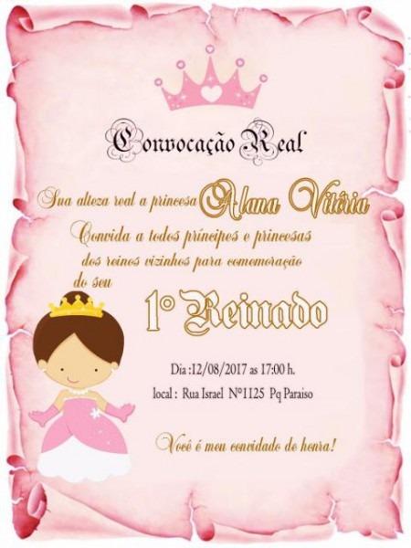 Convite Princesa  65 Ideias Lindíssimas & Modelos Para Imprimir Grátis