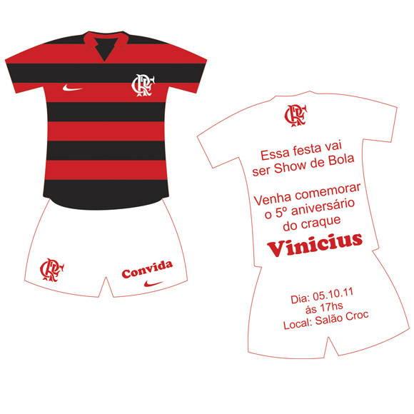 Convite Uniforme Flamengo No Elo7