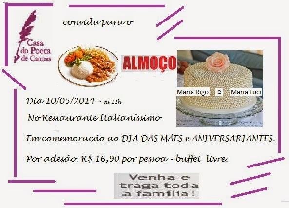 Casa Do Poeta De Canoas  Convite Para Almoço De Comemoração