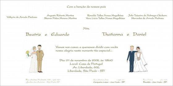 Convite De Casamento Duplo