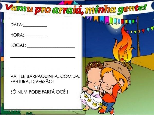Convites Para Festa Junina Coloridos Para Imprimir!