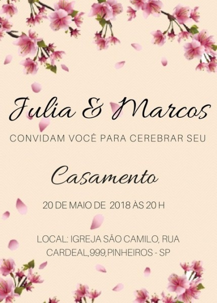 Convites Casamento Online Whatsapp Pode Imprimir R$ 1,00
