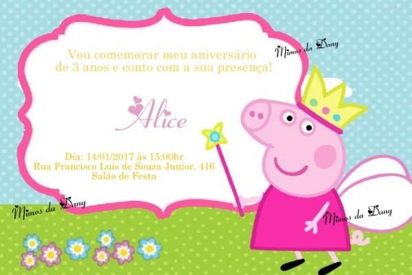 Convites De Aniversario Da Peppa Pig 6 » Happy Birthday World