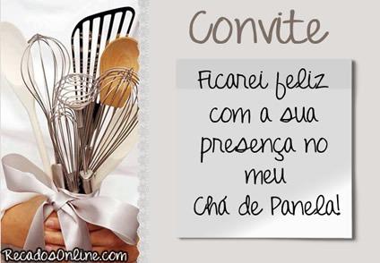 Convites Para Chá De Panela, Mensagens, Imagens E Frases  2