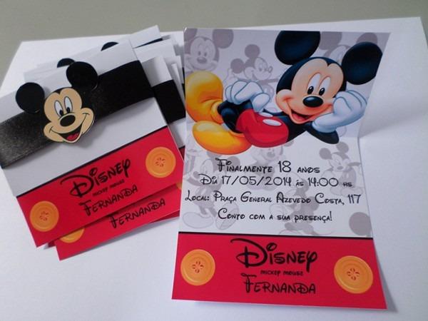 Convites Personalizados Mickey No Elo7
