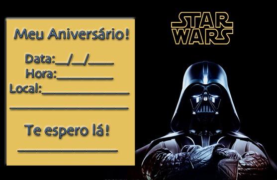 Convite De Aniversário Do Star Wars