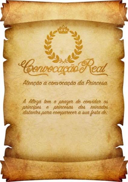 Convite Convocação Real