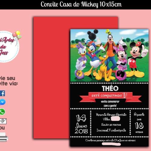 Convite Digital Casa Do Mickey