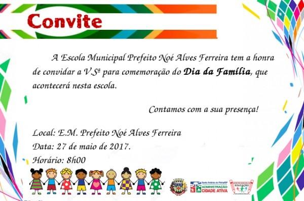 Convite Ao Dia Da Família