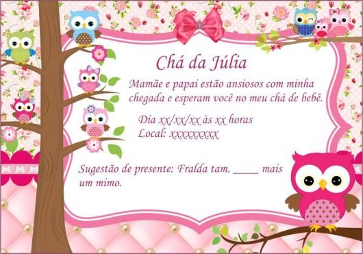 Convite Chá De Bebê Menino E Menina  70 Modelos, Editáveis Para