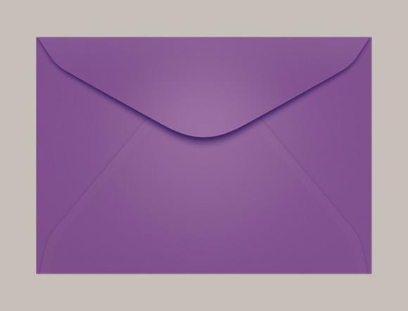 Envelope Roxo 11 X 16 Cm No Elo7