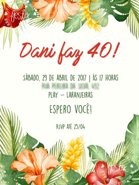 Festa Tropical  110 Modelos Fantásticos Que Irá Te Inspirar Na