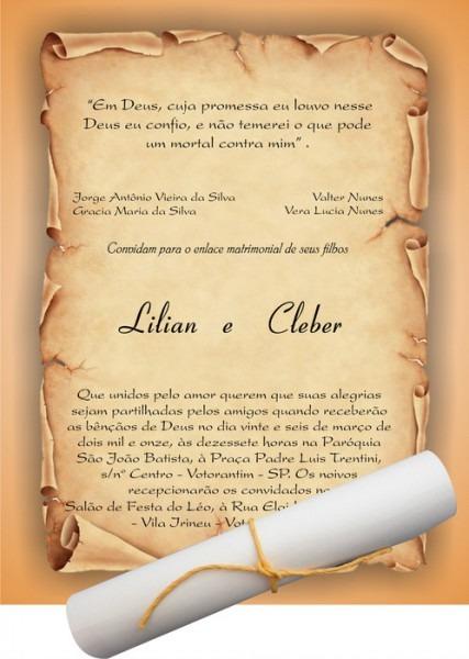Convite De Casamento Pergaminho 1ef1cc