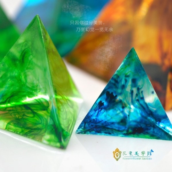 Flor Convite Triangular Pirâmide Molde Mold_pyramid Torre De