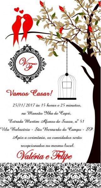 Galeria Convite De Casamento Pelo Whatsapp Digital No Elo7 R E