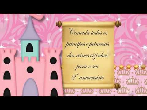 Convite Animado Realeza