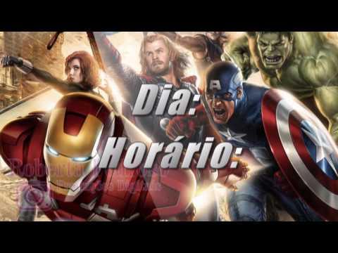 Convite Digital Animado Tema Os Vingadores