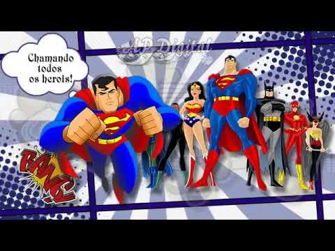 Convite Digital Liga Da Justiça Modelo