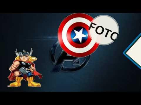 Convite Animado Vingadores
