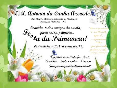 Convite Festa Da Primavera 2015