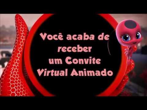 Convite Virtual Animado Ladybug ( Fazemos Todos Os Temas )