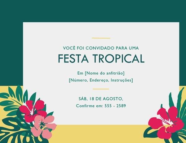 Convite Para Festa (tropical)
