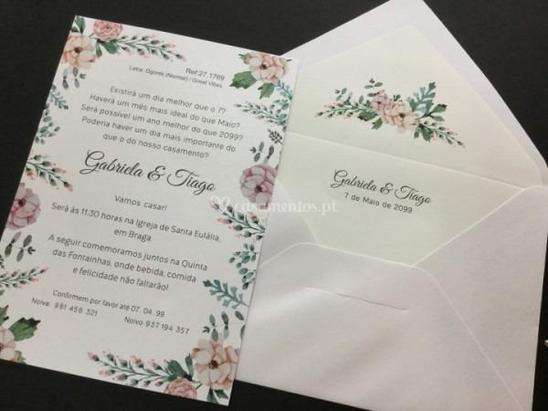 Convite Floral De Atelier Marca D'água