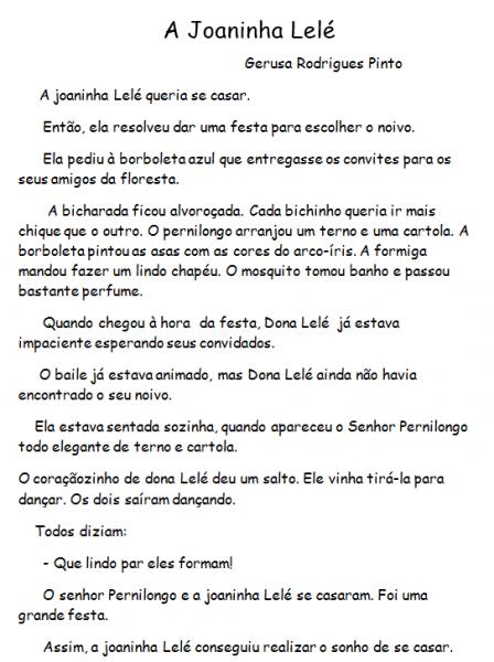 """A Joaninha LelÉ""""  Trabalhando Com Convites E InterpretaÇÃo De"""