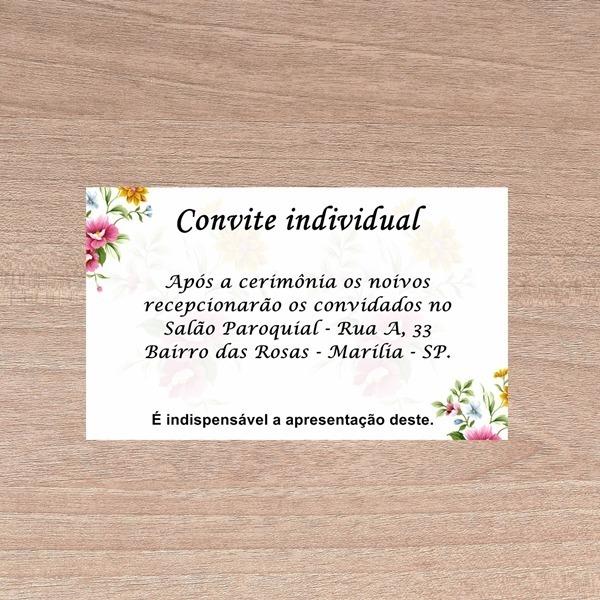 Kit 150 Convite Individual Casamento Frete Grátis