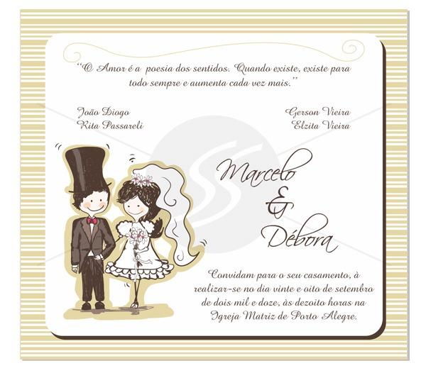 Convites Para Casamento M2217