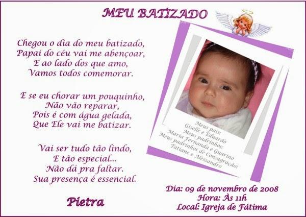 Mensagem De Batizado De Bebê