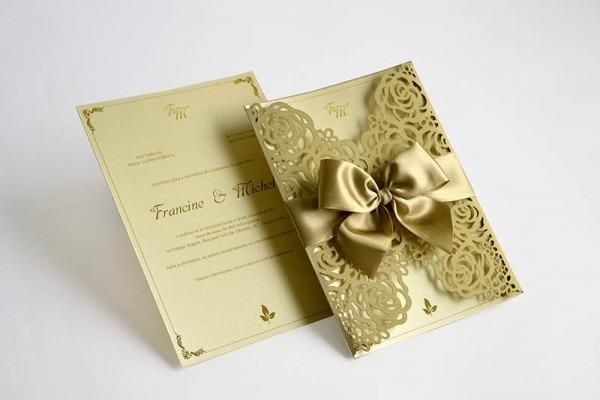 Convites De Casamento Com Corte Laser Michel