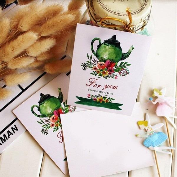 Multi Uso 50 Pcs Para Você Cartão Chá Da Tarde Pote Estilo