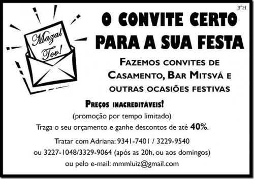 Mazal Tov! O Convite Certo Para A Sua Festa
