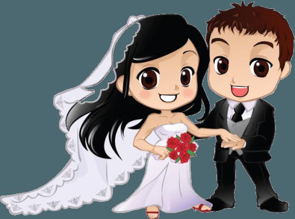 Noivinhos Para Convite De Casamento Png Vector, Clipart, Psd