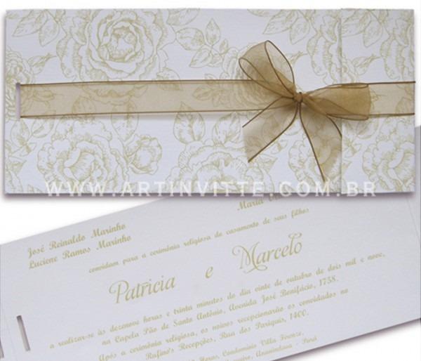 Convite De Casamento Modelo Paris