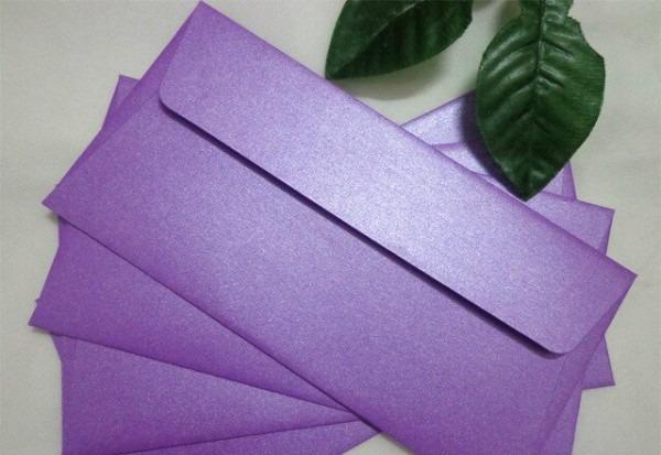 Perolado Roxo Cor De Negócios Envelope Envelope Envelope Do