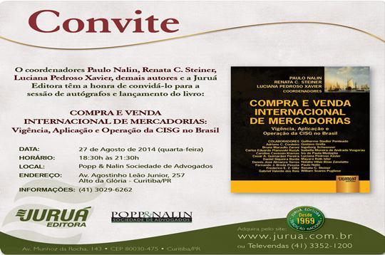 Convite Lançamento Do Livro  Compra E Venda Internacional De