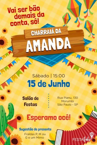 Convite Festa Junina