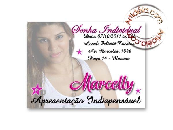 Convite Individual 15 Anos Por R$0,35