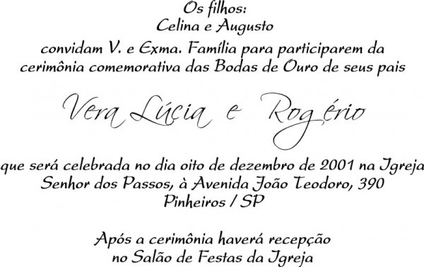Convites De Casamento  Sugestão De Texto Para Convites