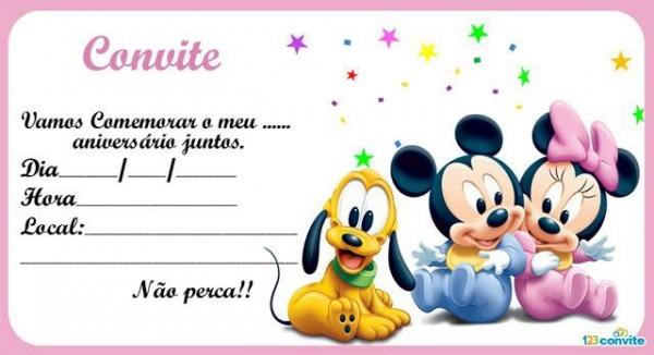 Convites De AniversÁrio Da Minnie Para Meninas