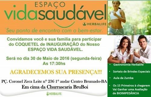 Convite  Inauguração Do Espaço Vida Saudável