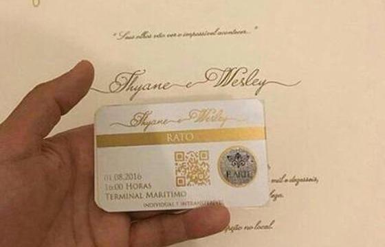 Convite Da Festa De Casamento De Wesley Safadão Tem  Selo