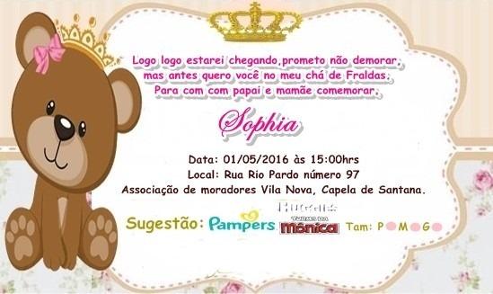 100 Convites Personalizados Chá De Bebê Com Envelopes E Selo