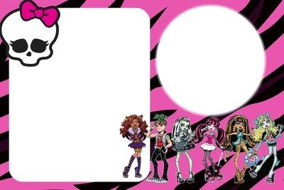 Photo Montage Convite De Aniversario Da Monster High