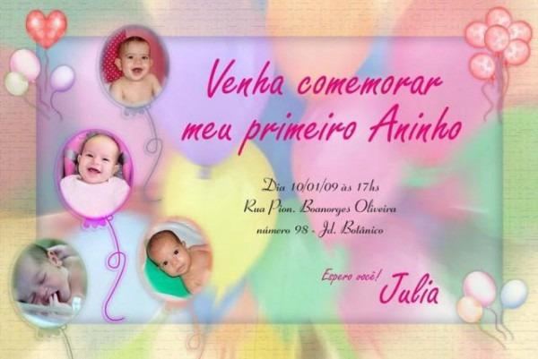 Convite Personalizado Aniversário Infantil   08